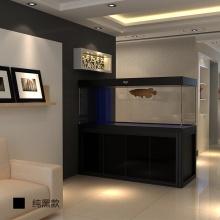 爱龙仕鱼缸客厅订制缸白鱼缸龙鱼缸龙鱼魟鱼大型水族箱鱼缸定做